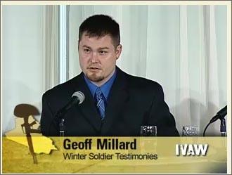 ジェフ・ミラード 画像出典:IVAW 証言ビデオ