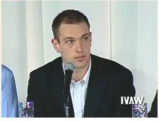 マイケル・トッテン 画像出典;IVAW 証言ビデオ