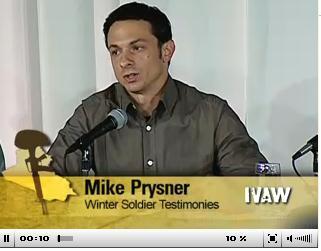 マイク・プライズナー 画像出典 IVAW証言ビデオより