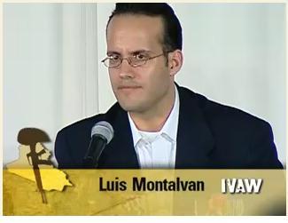 ルイス・モンタルバン 画像出典 IVAW証言ビデオより
